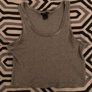 Forever 21 Striped Cropped Tank Top